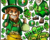 St. Patrick's Day Graphic Kit - reusable decal sticker decorations