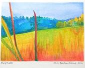Colorful Original Landscape Watercolor Painting