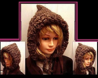 Crochet hat Pattern, - Hat, For Women or Kids, num 505, Instant Download