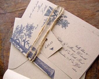 Rustic Wedding Invitation, Simple Rustic Wedding Invitation, Fall Wedding Invitation, Eco Friendly