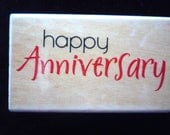 New-  Rubber Stamp-  Happy Anniversary  By: Rubber Stampede