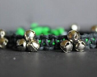 Custom Color Square-Knot Bell Bracelet