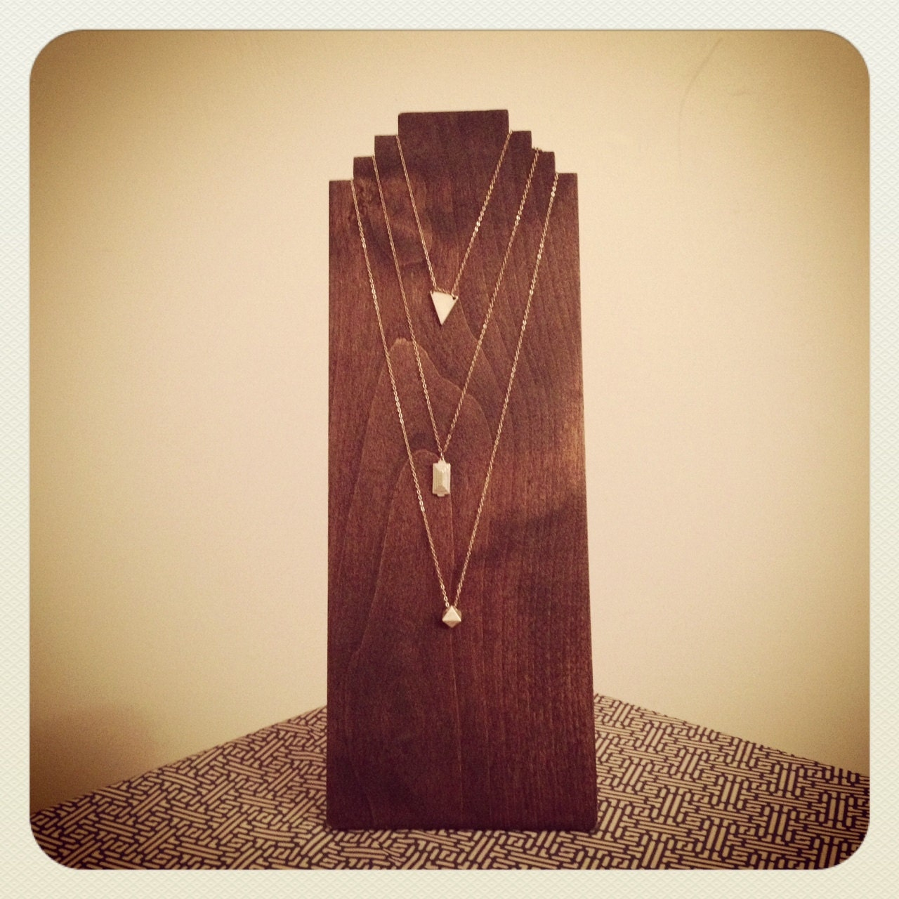 Make Your Own Jewellery Display Board: Handmade Wooden Necklace Display. Craft Show By