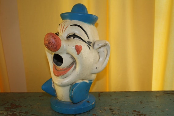 Vintage Carnival Water Game Clown Head By Platform9 On Etsy