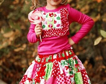 PeNnY PatchWork Twirl Skirt - pdf tutorial - ebook - 18m - 12y