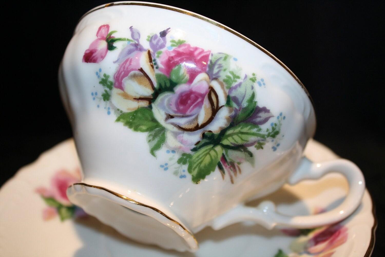 Victoria Ceramics China Japan Tea Cup & Saucer Set