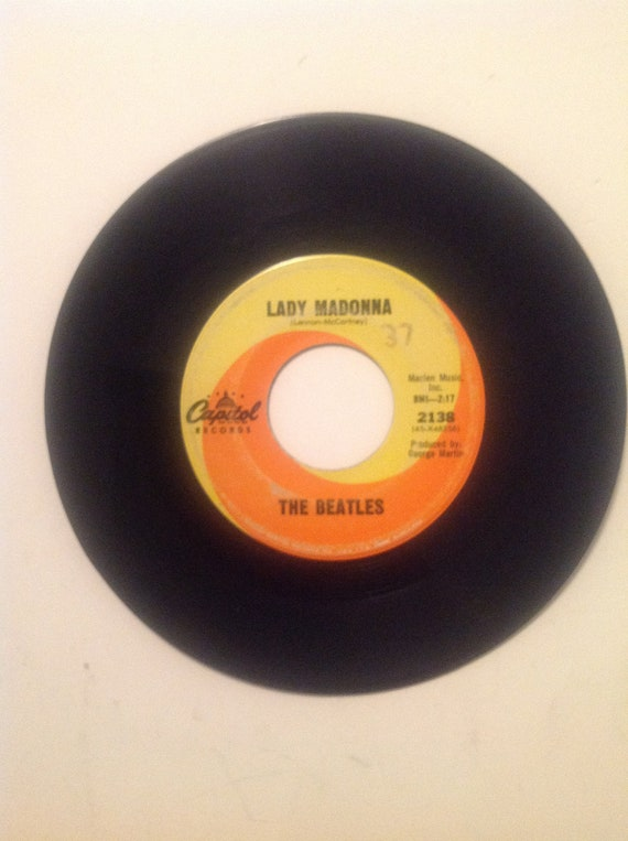 Beatles 45 Rpm Vinyl Record Lady Madonna The Inner Light