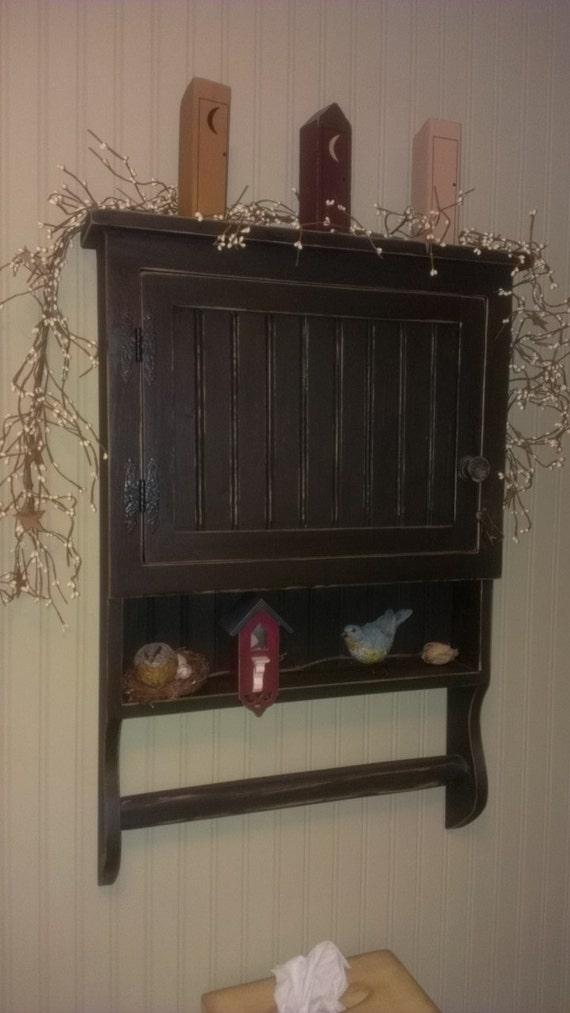 Primitive Medicine Cabinet Spice Cupboard