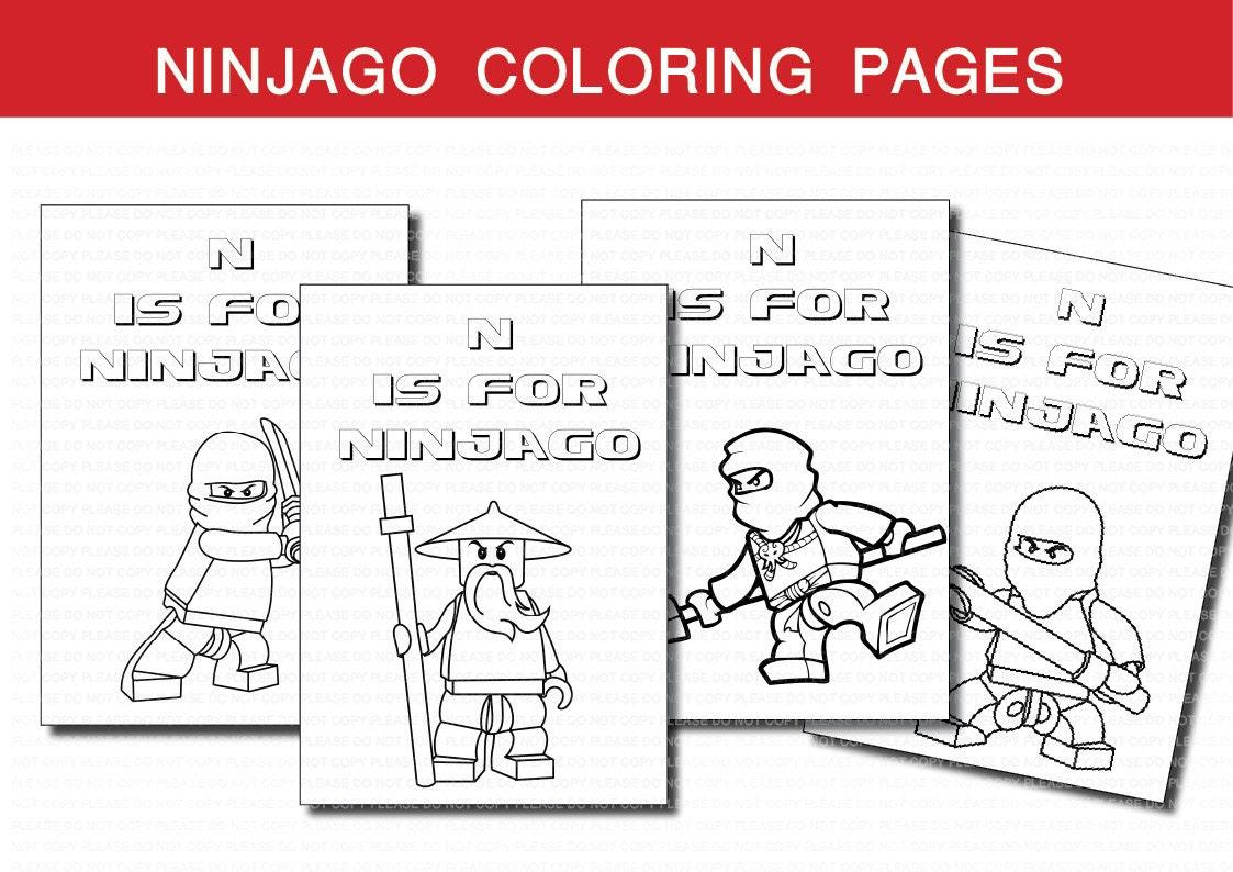 INSTANT DL Ninjago coloring pages Ninjago birthday by ...