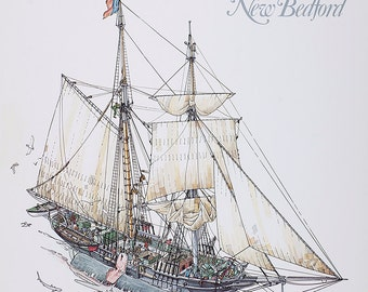 The Whaling Museum of New Bedford, signed by artist