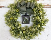 Boxwood  wreath, Lantern wreath, Apple wreath