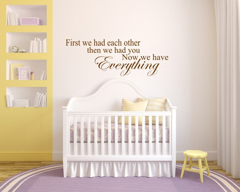 Wall Decal Quotes For Baby Nursery : Baby s room decal quote bedroom wall