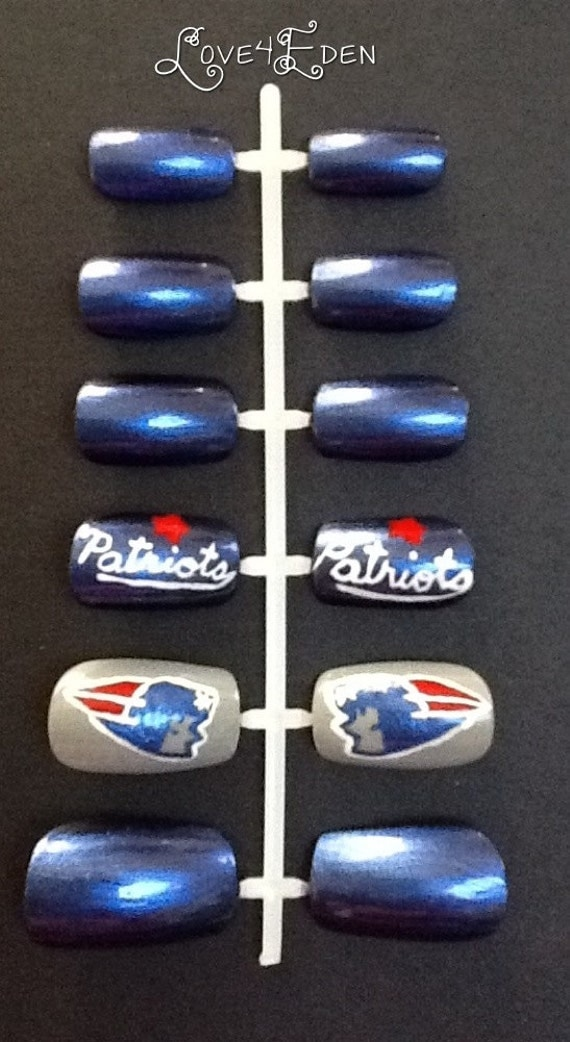 Patriots Fake Nails Set