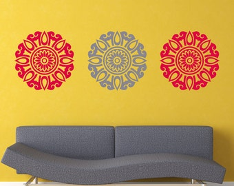 Abstact Flower - Wall Decal Set of 3 - Free shipping