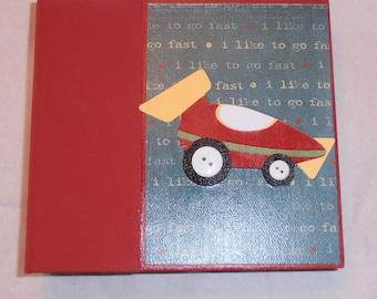 6x6 PreMade Chipboard Boy Scrapbook Photo Album