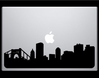 Pittsburgh Skyline Macbook Decal / Macbook Sticker / Laptop Sticker