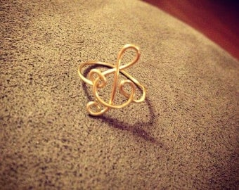 "The ""Treble Clef"" Ring"