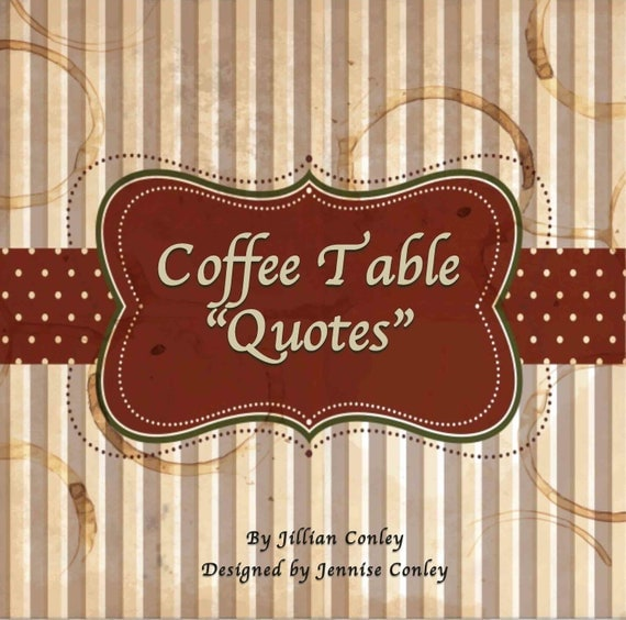 items similar to coffee table quotes home decor book for