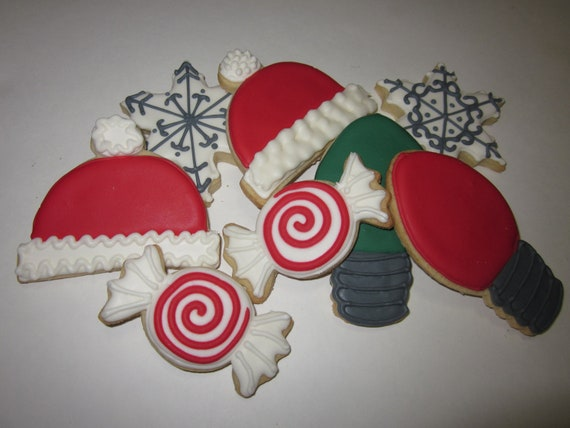 Custom Decorated Christmas Cookies