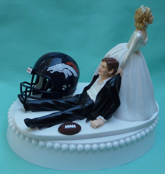 wedding cake toppers denver co wedding cake topper denver broncos football themed w garter 26450