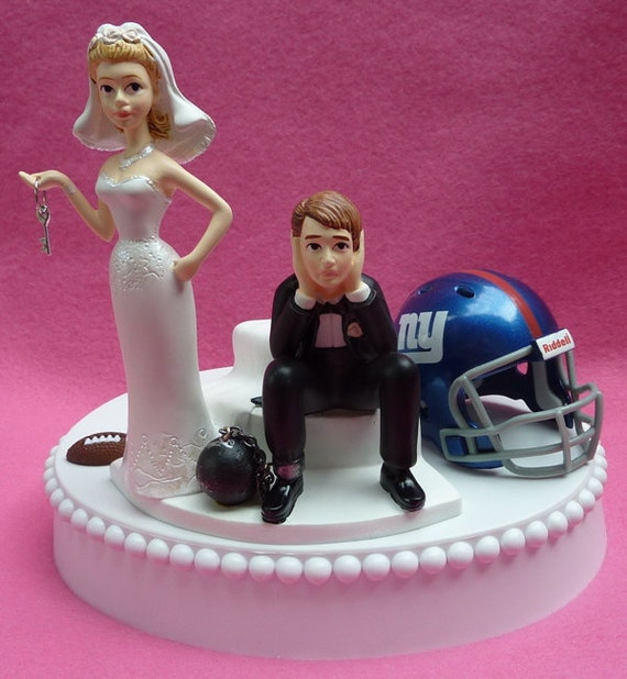 wedding cake toppers in new york wedding cake topper new york giants ny football themed 26513