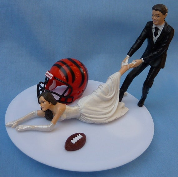 Cincinnati Bengals Wedding Cake Topper