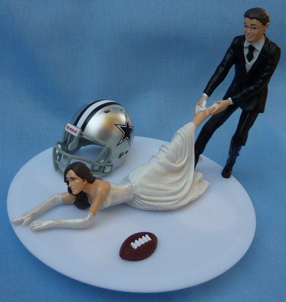 dallas cowboys themed wedding cake wedding cake topper dallas cowboys g football themed w garter 13318