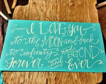 Custom Calligraphy Quote Prints - Handmade