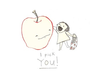 I Pick You Cards (set of 5 A2 greeting cards)