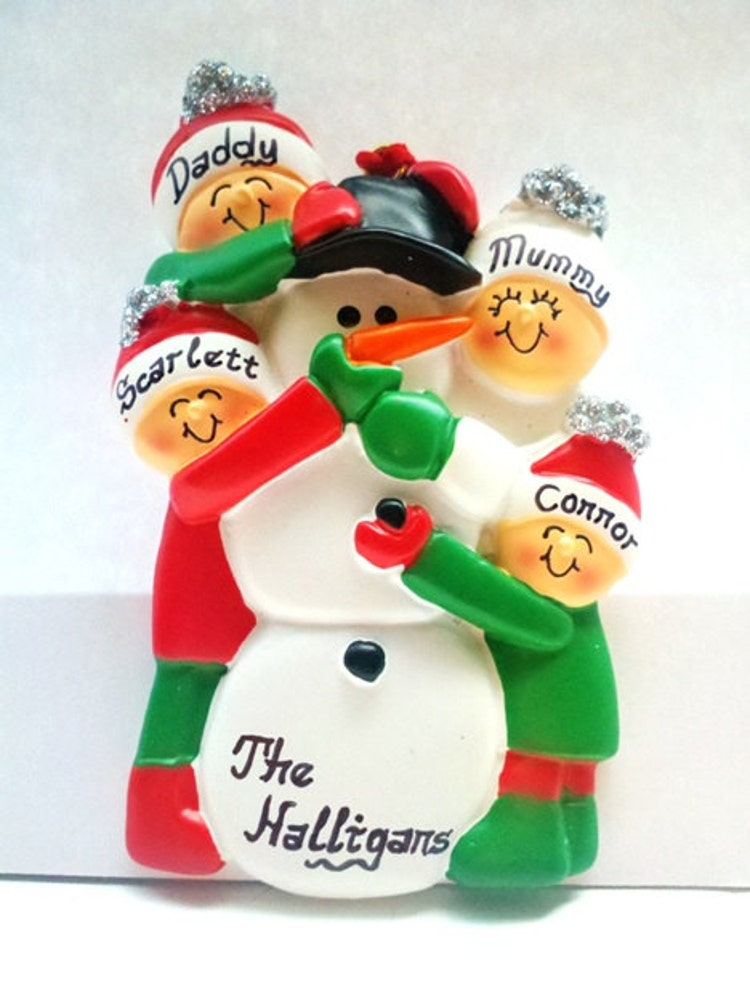 family christmas ornaments personalized ornament family of 4 by 12173