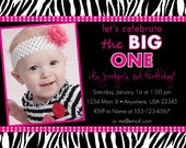 Zebra Print Birthday Invitation