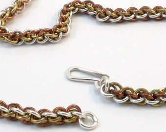 Argentium Silver and Gold Fill Necklace - Jens Pind Weave
