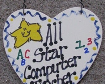 Teacher Gifts 5032 All Star Computer Teacher handmade