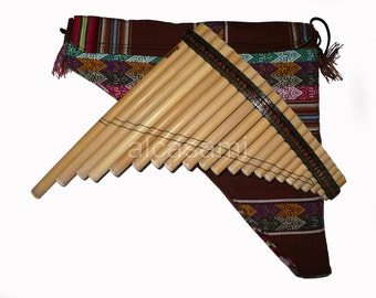 Professional Pan Flute 22 Pipes Ramos and Case (Peru)