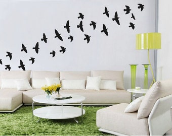 Flock Of Flying Birds Wall Stickers Bird Wall Decal
