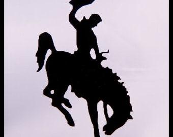 Bronco cake topper - Bronco Rodeo RIDER Birthday Cake Topper - horse cake topper - western cake topper - cowboy cake topper