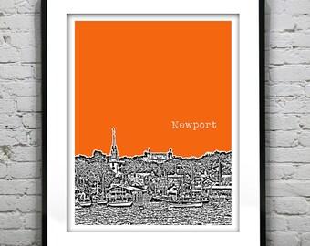 Newport Rhode Island Skyline Poster Art Print Original