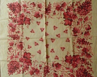 Beautiful collectors item  block printed French scarf/kerchief