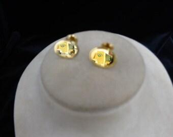 Goldtone Cuff Links
