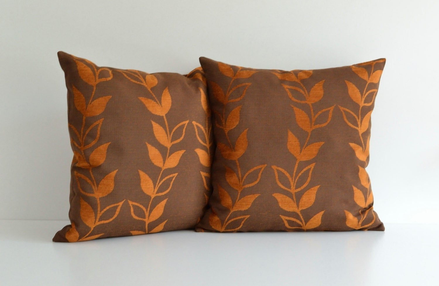 Decorative Pillows For Dark Brown Couch : 20x20 Orange And Brown Decorative Throw Pillow For Couch