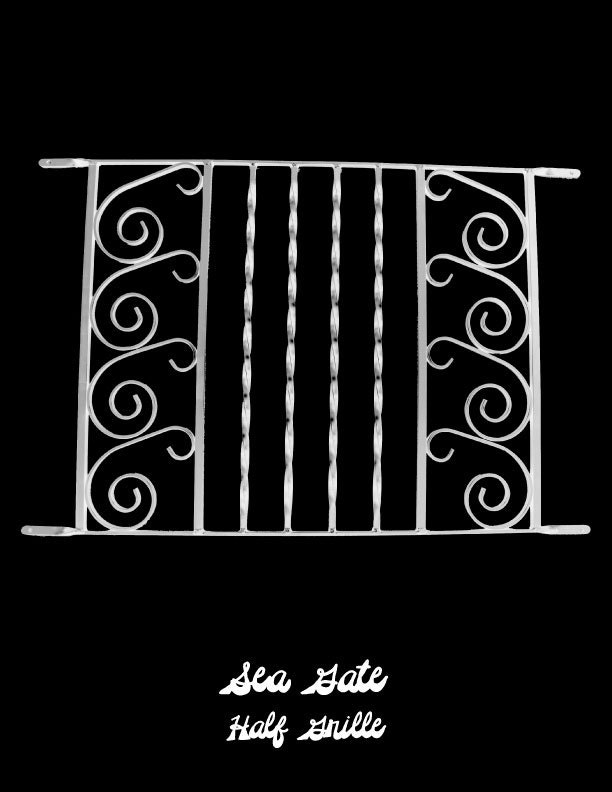 Screen door grille protective aluminum decorative sea gate for Decorative screen doors