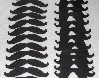 50 Black Mustaches great for Party Favors, Cupcake Toppers, Photo Booths & more