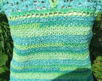spring time top crochet lite weight yarn