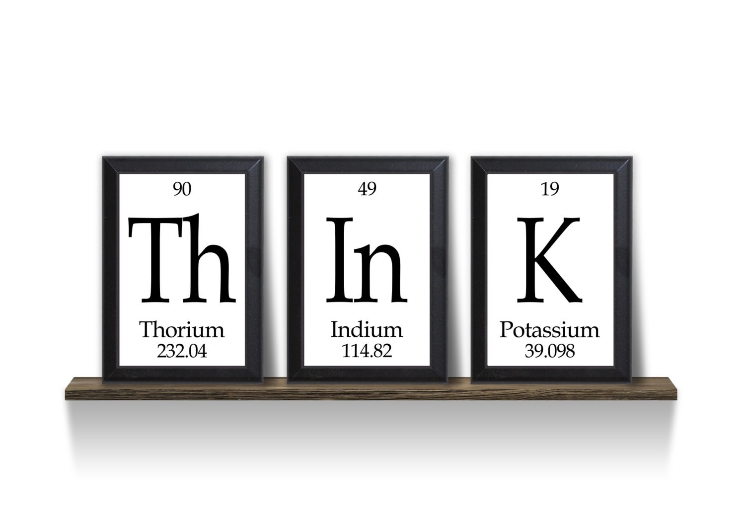 think periodic table framed 3 piece wall plaque set. Black Bedroom Furniture Sets. Home Design Ideas