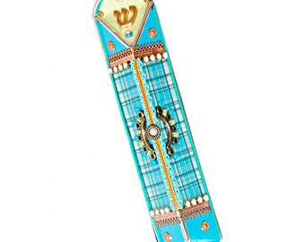 Triangle Mezuzah Case by Ester Shahaf Judaica