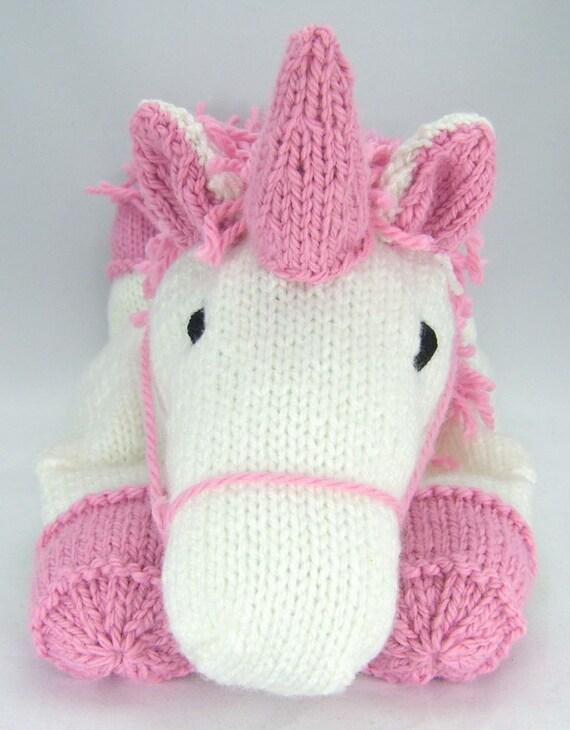 Super KNITTING PATTERN Suki the Unicorn Pyjama Case Knitting RP23