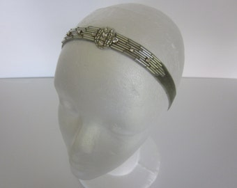 Art Deco Headband Wedding Rhinestone -Crystal Headpiece, 1920s Bridal Headpiece, 20s Gatsby Wedding