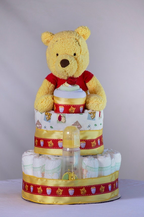 Items Similar To The Winnie The Pooh Diaper Cake Baby