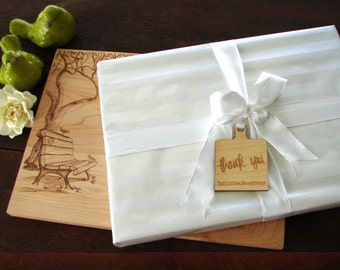 Gift Wrapping our Cutting Boards