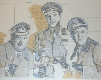 Drawing of a publicity still from Hogan's Heroes.